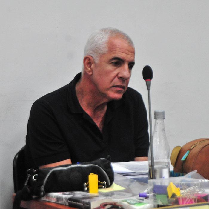 Hilsaca en la audiencia que le dieron libertad en diciembre de 2014