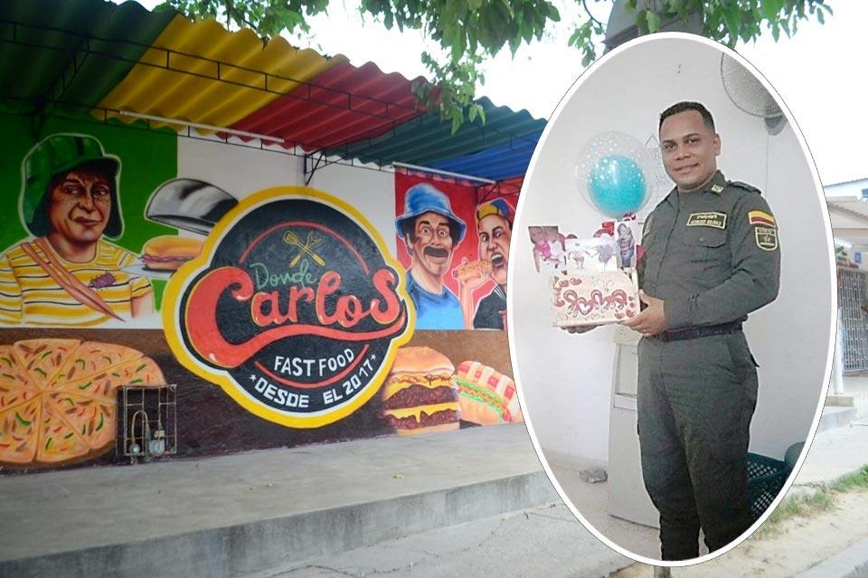 Carlos Escorcia Vergara, policía asesinado después de ser víctima de extorsiones