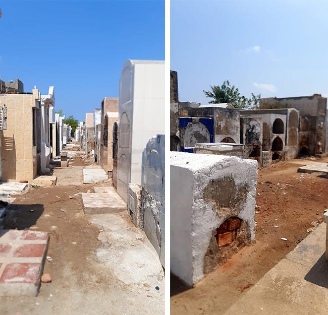 En este cementerio de Ciénaga en el Magdalena pueden estar los cuerpos de varios civiles desaparecidos que fueron presentados como muertos en combate por el Ejército.